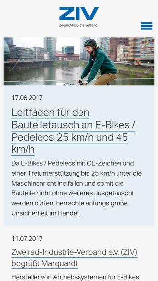 Mobile preview of ziv-zweirad.de