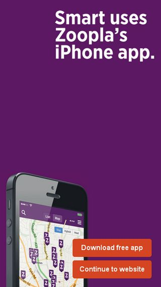 Mobile preview of zoopla.co.uk