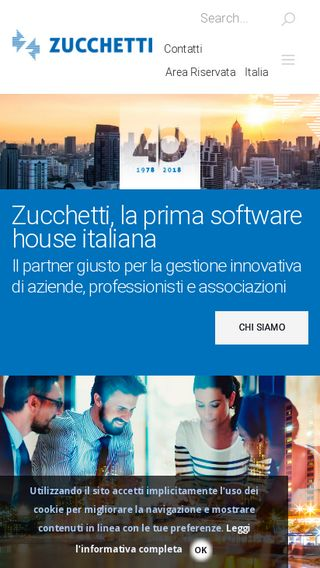 Mobile preview of zucchetti.it