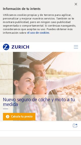 Mobile preview of zurich.es